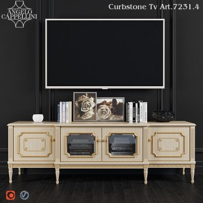Angelo Cappellini TV Stand Art Cabinet 3D Model 1