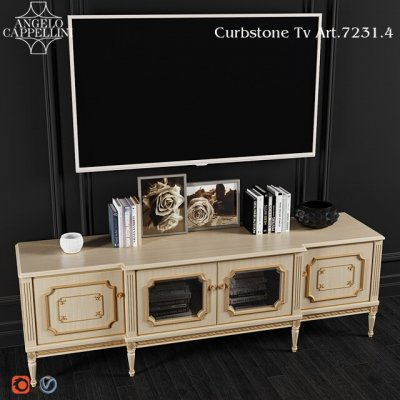 Angelo Cappellini TV Stand Art Cabinet 3D Model 2