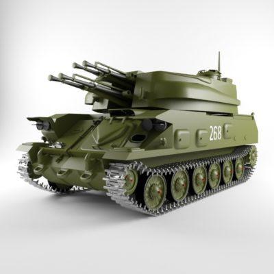 Anti Missile Tank 3D model