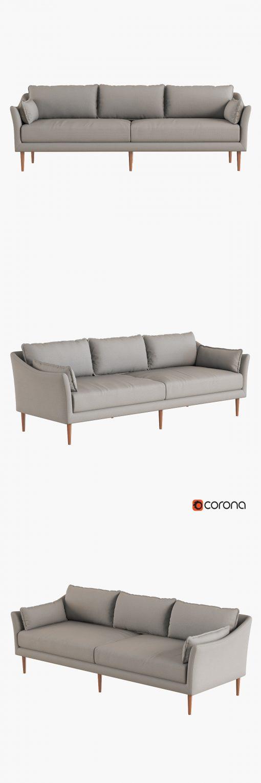 Antwerp Sofa 3D Model 2