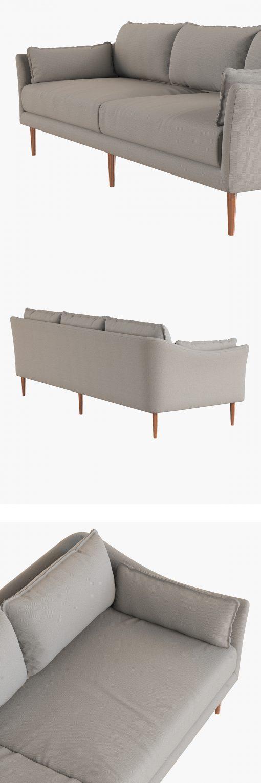 Antwerp Sofa 3D Model 3