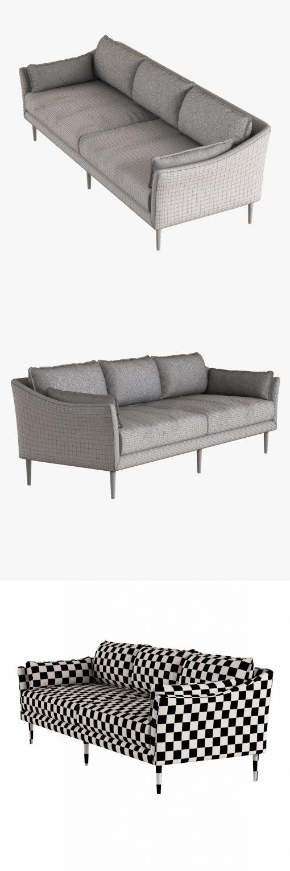 Antwerp Sofa 3D Model 4