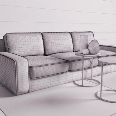 Anvar Hector Sofa 3D Model 3
