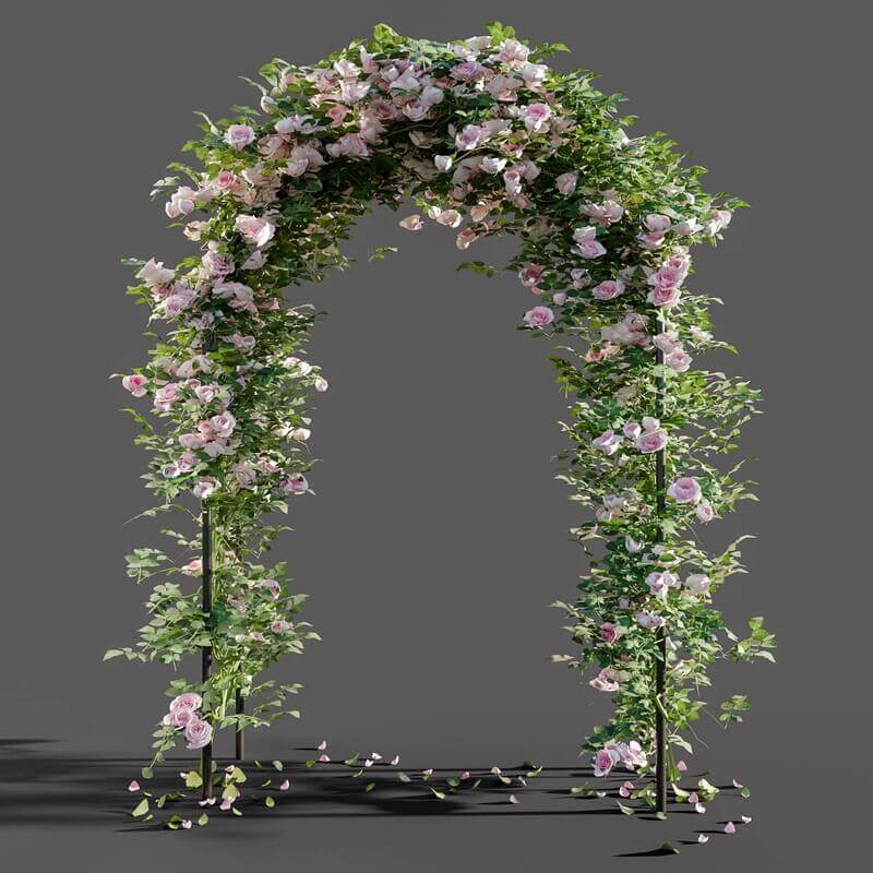 Arch Pergola With Roses 3d Model For Download Cgsouq Com