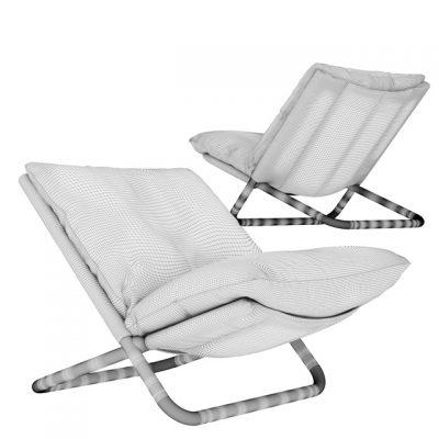 Arflex Cross Low Armchair 3D Model