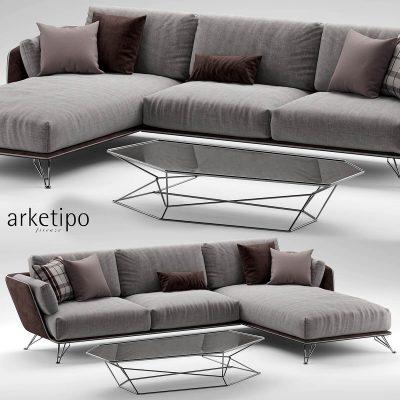 Arketipo morrison sofa 2 3D model 01 (3)
