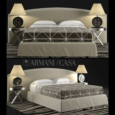 Armani Casa Dandy Bed 3D Model