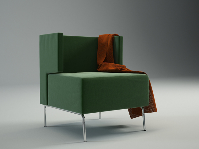 Armchair-01 3D Model 2