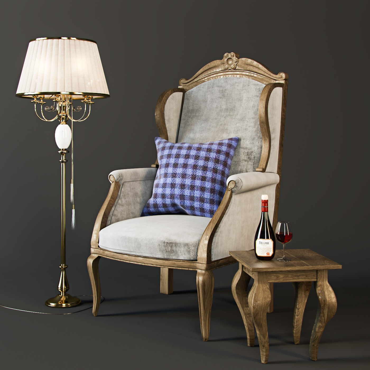 Armchair with decor 3.1