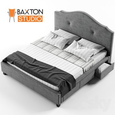 Armeena Linen Storage Bed 3D Model