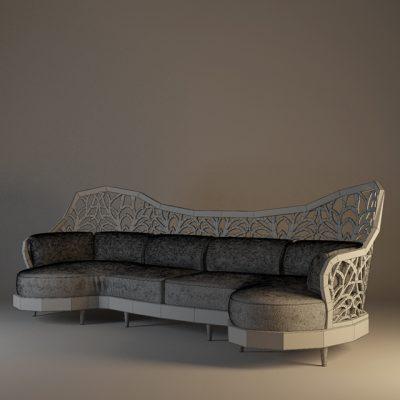 Artdeco Sofa 3D Model