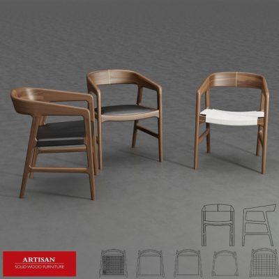 Artisan Tesa Chair 3D Model