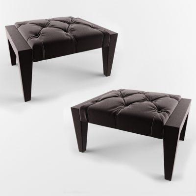 Asnaghi Atena Tavolino Pouf 3D Model