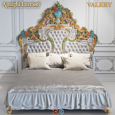 Asnaghi Interiors Valery Bed 3D Model