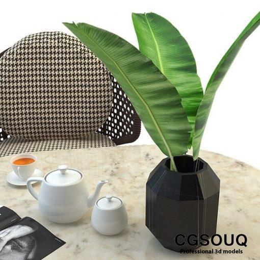 Aston cord outdoor chair table claydon Minotti 3D model 7