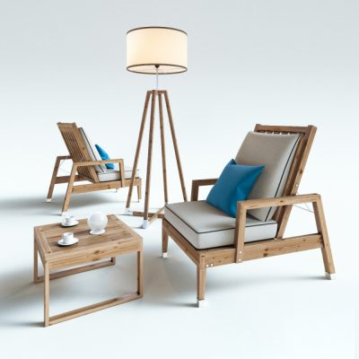 Atmosphera Creative Labs Table & Chair 3D Model