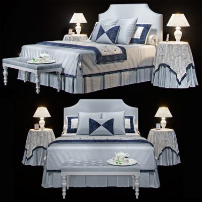 Avalon Classic Bellagio Halley Bed 3D Model
