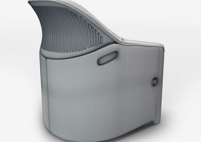Avus Armchair 3D Model 2