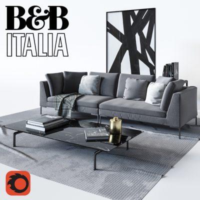 B & B Italia Charles Sofa 3D Model