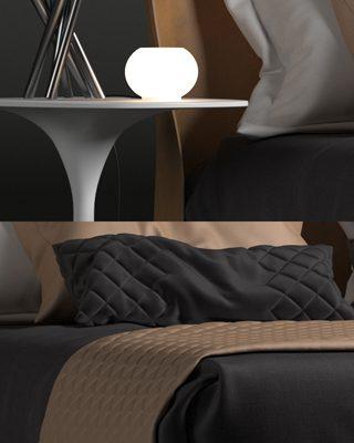 B&B Italia Alys Bed 3D Model