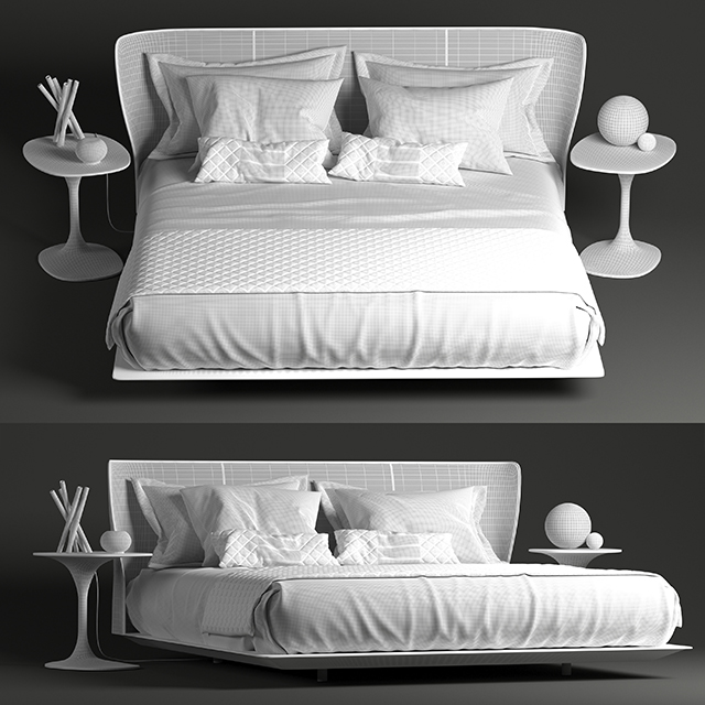B&B Italia Alys Bed 3D Model 3