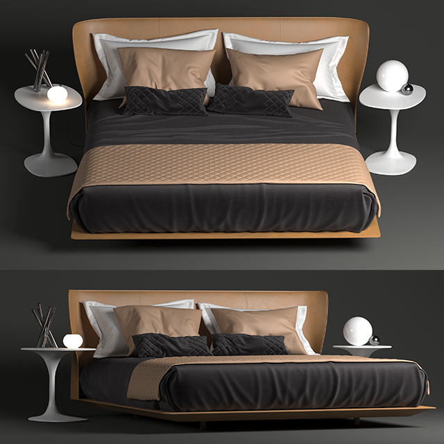 B&B Italia Alys Bed 3D Model