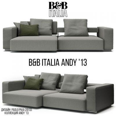 B&B Italia Andy 13 Sofa 3D Model