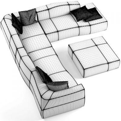 B&B Italia Bend Modular Sofa 3D Model
