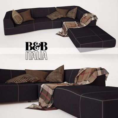 B&B Italia Bend Sofa 3D Model