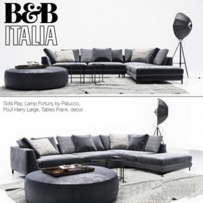 B&B Italia Diwan Ray 3D Model