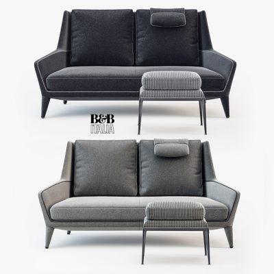 B&B Italia Edouard ED183 Sofa 3D Model