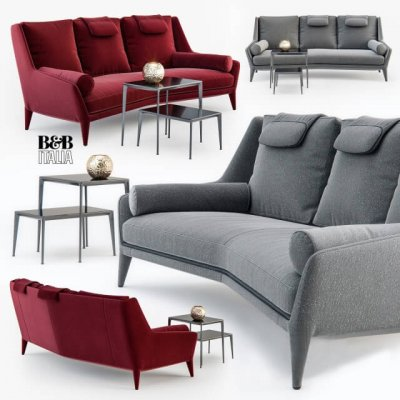 B&B Italia Edouard ED225 sofa 3D model