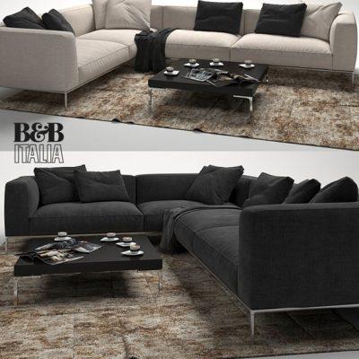 B&B Italia Frank Sofa Set-01 3D Model