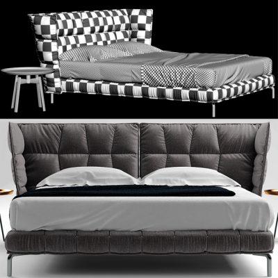 B&B Italia Husk Bett Bed 3D Model