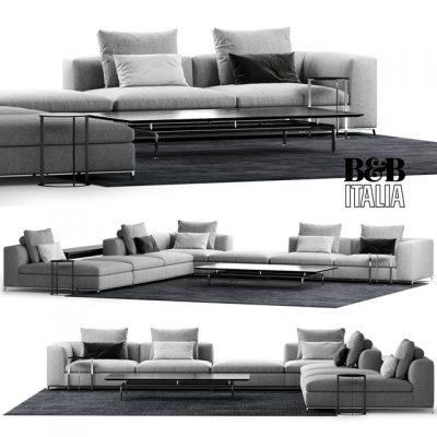 B&B Italia Michel Club Composition Sofa 3D Model
