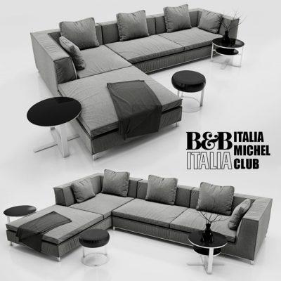 B&B Italia Michel Club Sofa 3D Model