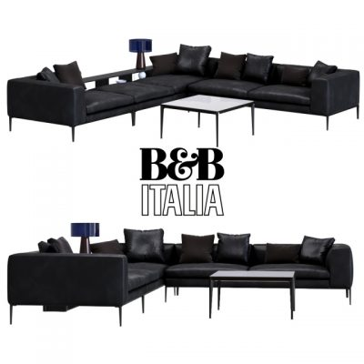B&B Italia Michel Club Sofa Set 3D Model
