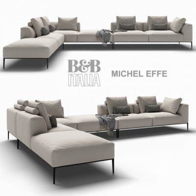 B&B Italia Michel Effe Sofa 3D Model