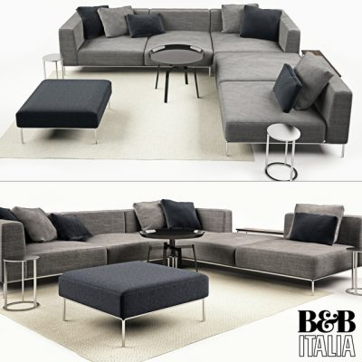 B&B Italia Michel Sofa Set-02 3D Model
