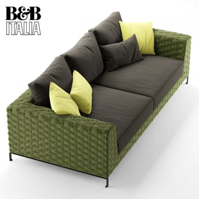 B&B Italia Ray Outdoor Natural Sofa 3D Model