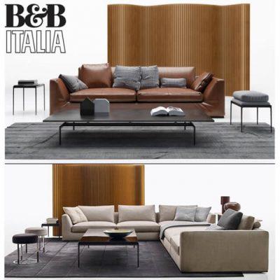 B&B Italia Richard Sofa Set-02 3D Model