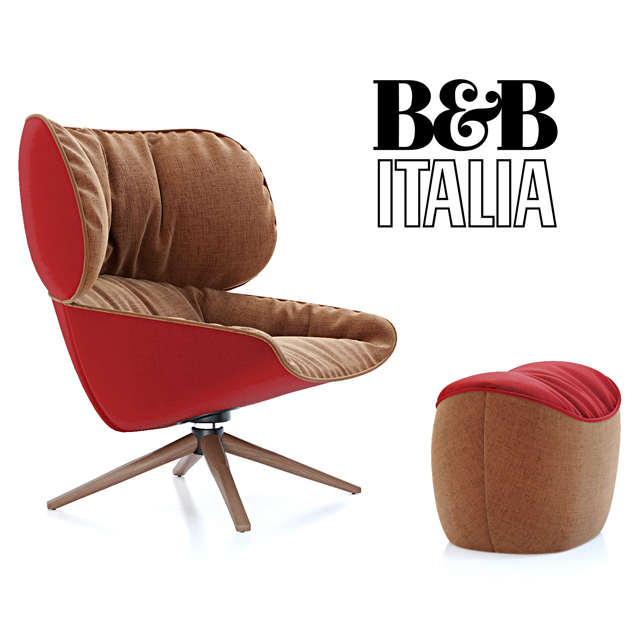 B&B Italia Tabano Chair 3D Model 3