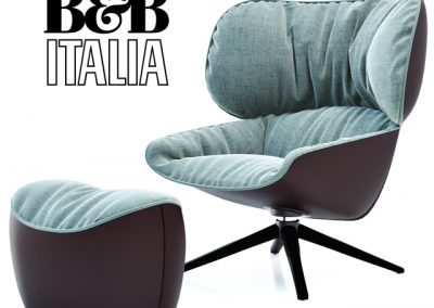 B&B Italia Tabano Chair 3D Model 4