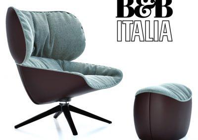 B&B Italia Tabano Chair 3D Model 5
