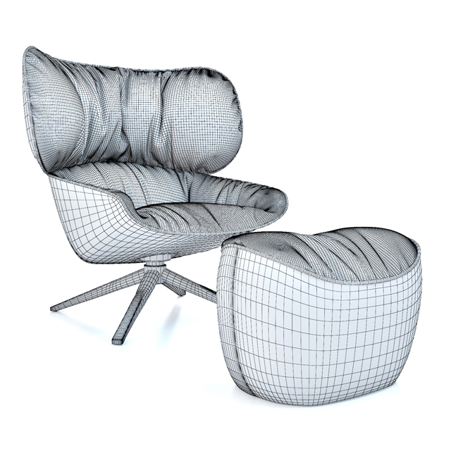 B&B Italia Tabano Chair 3D Model 6