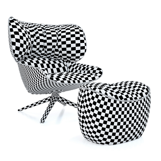 B&B Italia Tabano Chair 3D Model 7