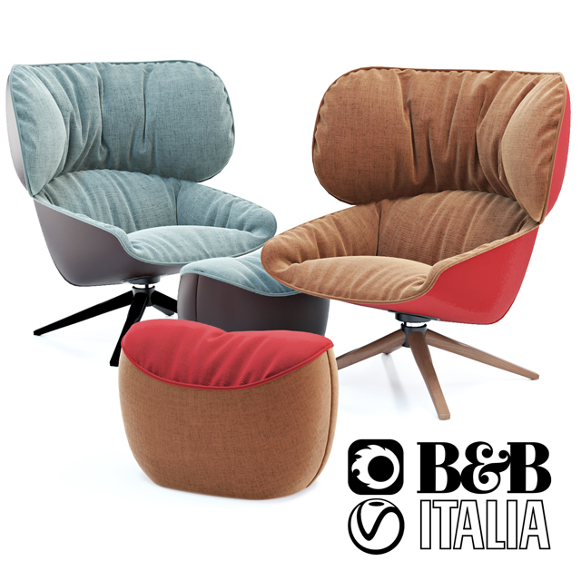 B&B Italia Tabano Chair 3D Model