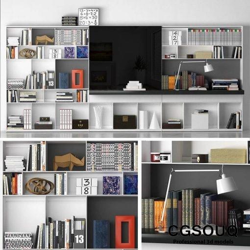 B&B MAXALTO 4 Bookcase 3D model (1)