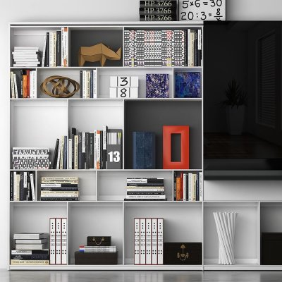B&B MAXALTO 4 Bookcase 3D model (2)