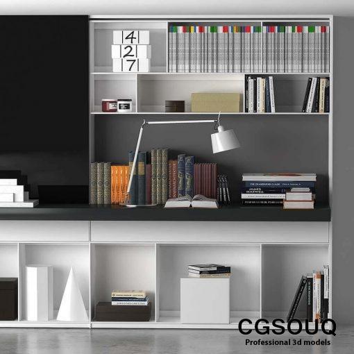 B&B MAXALTO 4 Bookcase 3D model (3)